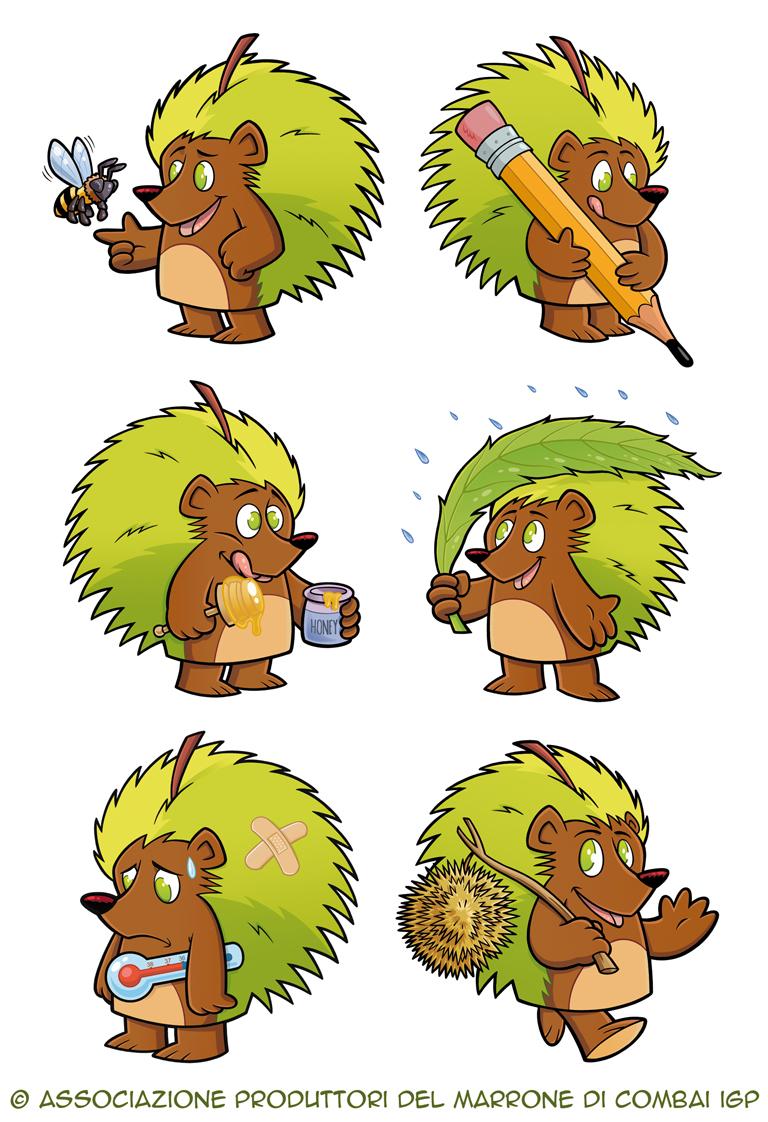 Comby, una mascotte nei boschi di Combai
